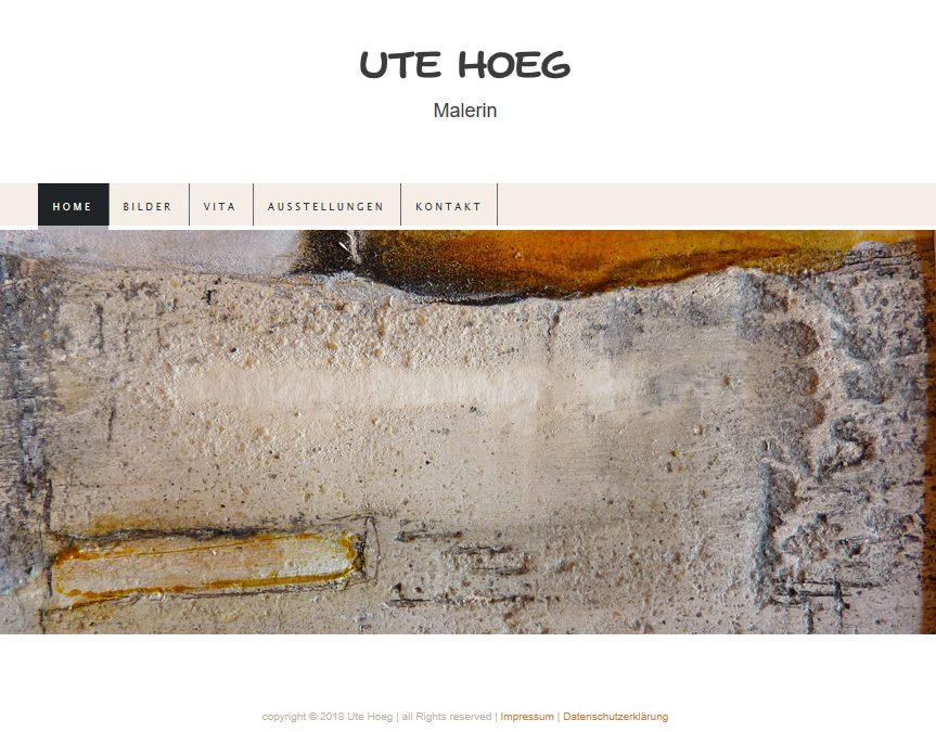 Webseite – Ute Hoeg