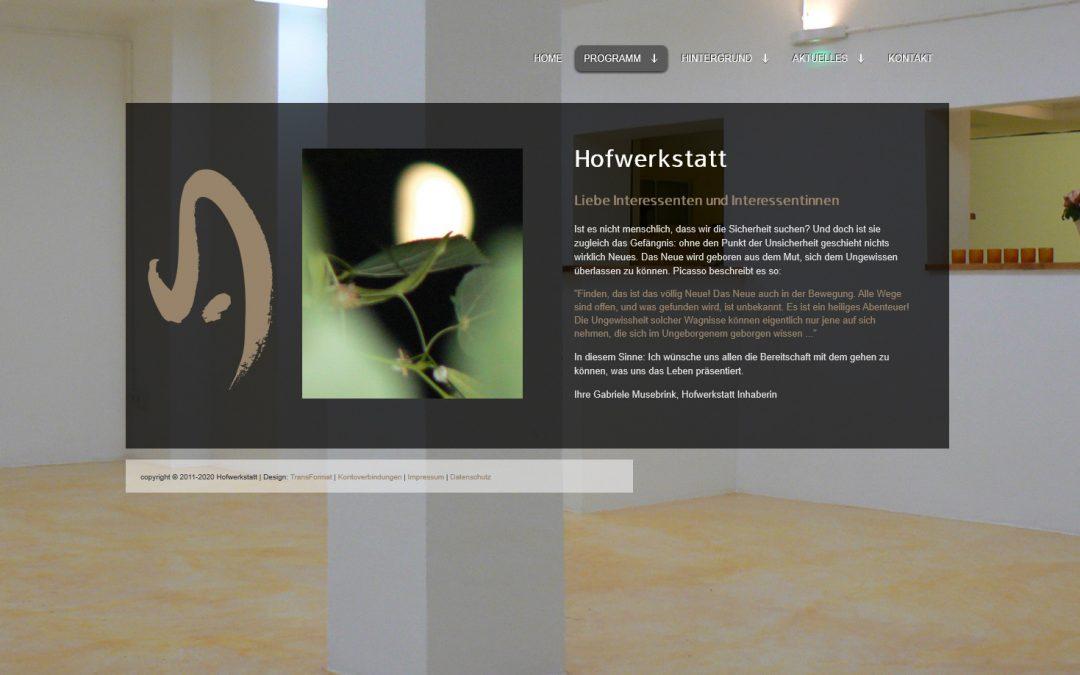 Webseite | Hofwerkstatt
